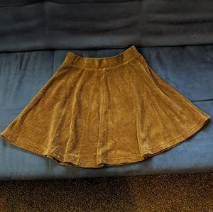 Topshop brown miniskirt